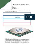 Cuál CPU Deberías Comprar