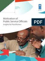 Motivation of public services officials