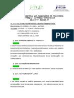 Avaliação 1 (Controle Estatístico de Processos)