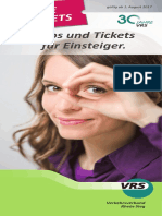 2017 Die Tickets (Flyer) NEU Ab Aug