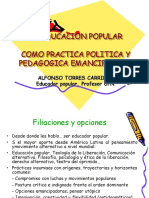 La Educacion Popular Como Practica Politica y Pedagogica Emancipadora
