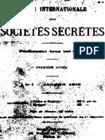 Revue Internationale Des Societes Secretes v1 n1 1912 Jan
