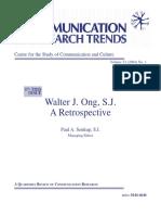 Walter J Ong a Retrospective