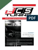 VW B5 Passat Ziza Interior LED Light Kit