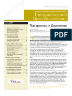 Transparency in Government