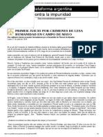 Tensa-primer Juicio Por Crimenes de Lesa Humanidad en Campo de Mayo