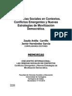 Las Ciencias Sociales en Contextos -Conflictos Emergentes y Nuevas Estrategias de Movilización