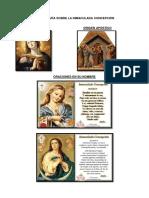Inforgrafía Sobre La Inmaculada Concepción