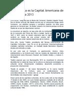 Barranquilla Es La Capital Americana de La Cultura 2013