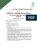 June 2017 Paper 3.03 (Question Paper)