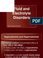 Fluid and Electrolyte Disorders