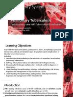 RespPath Lecture 10 Pulmonary Tuberculosis