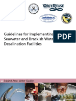 Guidelines for Implementing Seawater and Brackish Water Desalination Facilities