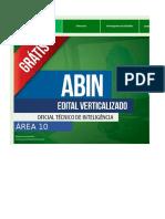 Edital Verticalizado - ABIN - Oficial Técnico de Inteligência - Área 10