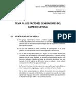 LOS FACTORES GENERADORS DEL CAMBIO CULTRAL TRABAJO