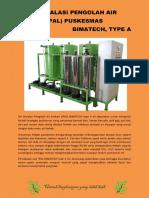 Unit Instalasi Pengolah Air Limbah IPAL Type A