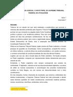 O Ativismo Judicial e o Novo Papel Do Supremo Tribunal Federal Na Contemporaneidade - Por, Ana Flávia Santos
