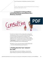 A Six Step Approach to Solving Problems and Building Effective Presentations Like a McKinsey…