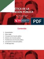 Ética en la función pública