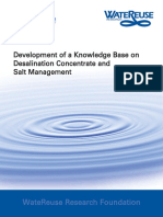 Development of a Knowledge Base on Desalination Concentrate and Salt Management
