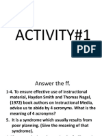 Activity 1 and 2