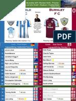 Premier League 171230 round 21 Huddersfield - Burnley 0-0