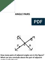 Angle Pairs