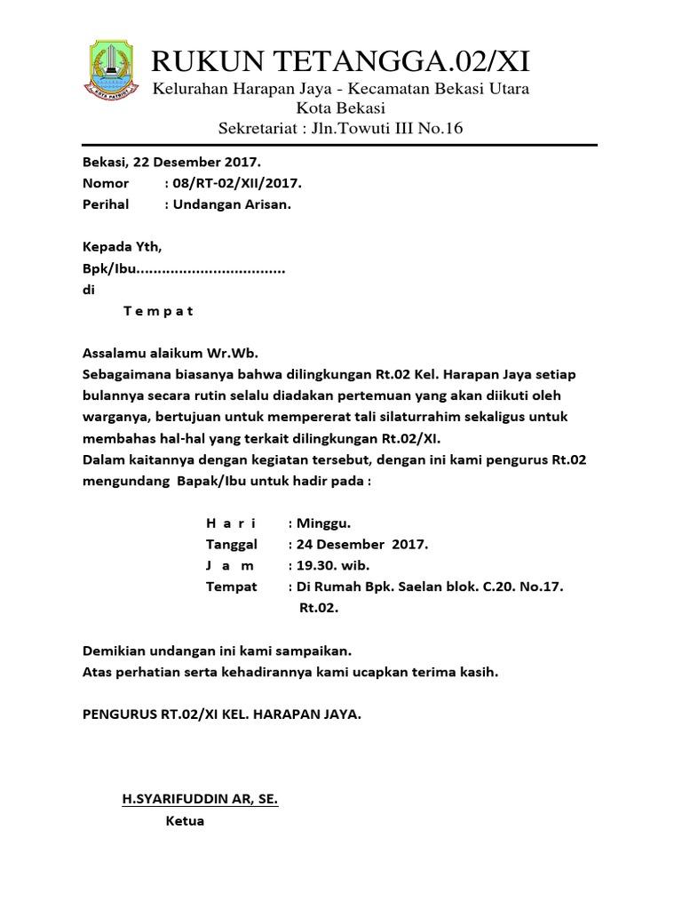 Kop Surat Rt Docx