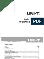 UT207 Manual