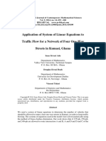 Application of System of Linear Equations to Traffic Flow for a Network of Four One-Way Streets in Kumasi, Ghana