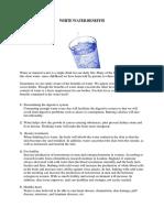 White Water Benefits