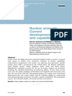 Nuclear Arsenals - Current Developments, Trends, And Capabilities, By Kristensen and McKinzie