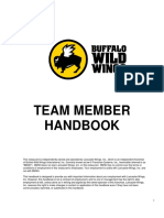 Buffalo Wild Wings Team Member Handbook5.13