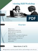 Interviewing Skill Workshop (KAU)