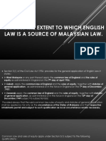 Discuss the Extent to Which English Law Is