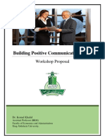 Building Positive Communication Skills Proposal
