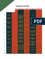 DECEMBER Schedule of Activities Beda Law Week