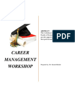 Career Management Workshop for FEA