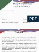 Dizajniranje sinteze supstituiranih indola