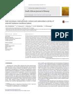 Anti-tyrosinase, Total Phenolic Content and Antioxidant Activity Of