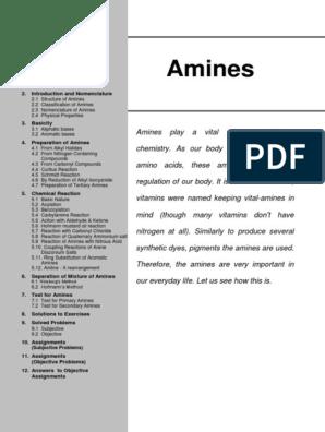 AMINES   Amine   Nitrogen