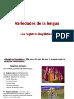 Variedades de La Lengua Registros Presentacion
