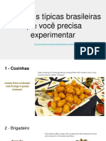 Comidas - Portugues para estrangeiros