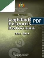 Legislación Educación Tomo II