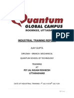 Industrial Training Report Pey Jal Nigam Rishikesh