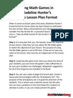 usingmathgamesinmadelinehunters8steplessonplanformat