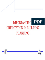 Importance of Orientation of Building
