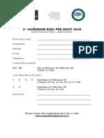 ARBITRATORS Registration Form 2018