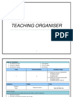 Teaching Organisers Topic 1 New Year New You