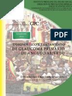 Dx y TX Glaucoma Primario Angulo Abierto Imss